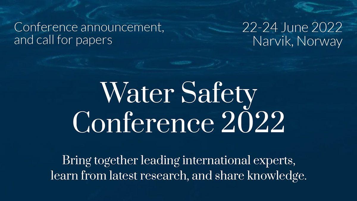Tekstplakat med info om konferanse i Narvik om trygg vannforsyning 22. - 24. juni 2022