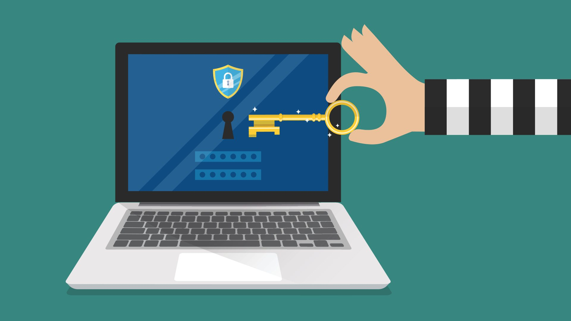 Illustrasjon på datasikkerhet