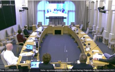 Stortingshøringer om statsbudsjett 2021