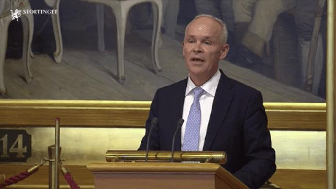 Jan Tore Sanner i Stortinget