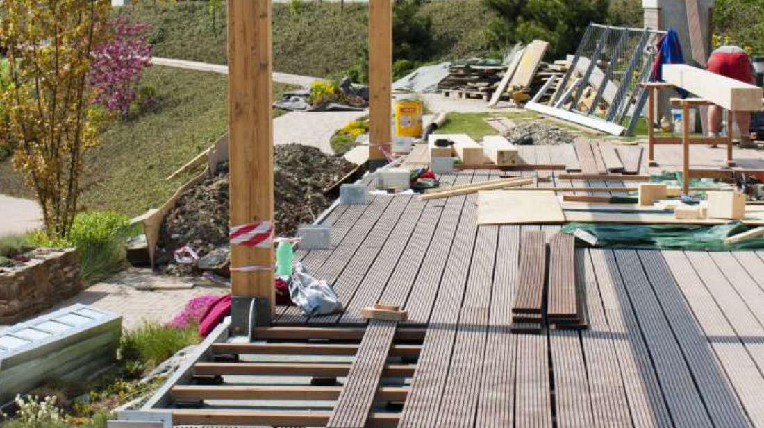 Terrasse under bygging