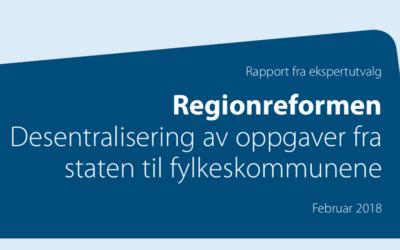 Høringsuttalelse om regionreformen